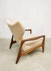Midcentury Danish design wingback armchair lounge fauteuil