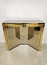Hollywood regency console dressing table mirrored glass