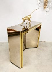 midcentury brass gold console schouw hollywood regency style WIlly Rizzo