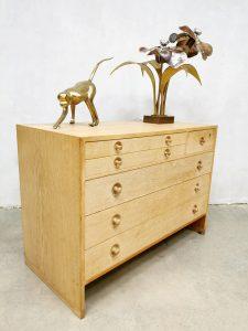 midcentury cabinet Hans Wegner Ry Mobelfabrik sideboard light oak series