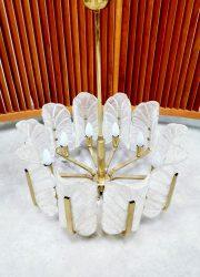 Orrefors Sweden chandelier pendant brass design Carl Fagerlund