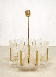 Carl Lagerfund chandelier midcentury design Orrefors Sweden