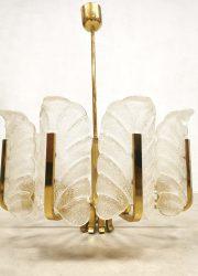 Chandelier brass design midcentury modern Orrefors Carl Fagerlund