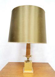 Maiskolf tafellamp vintage Micentury French design Maison le Dauphin corn cob table lamp hollywood regency