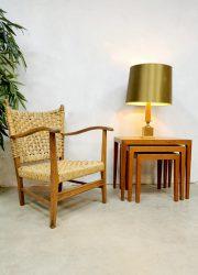 Maison le Dauphin Hollywood regency seventies vintage table lamp corn tafellamp jaren 70 maiskolf