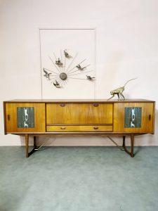Midcentury design sideboard dressoir Webe Louis van Teeffelen & Ravelli tiles