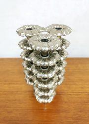 Midcentury design stacking floral candle holders bloem stapelkandelaars