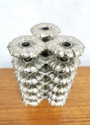 vintage stacking candle holders floral bloemen kandelaars 4