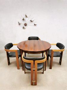Midcentury dining chairs 'Pamplona' eetkamerstoelen Augusto Savini Pozzi