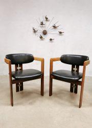 rosewood dining chairs eetkamerstoelen Pozzi Augusto Pamplona