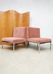 Minimalism Dutch design sofa stoelen pink velvet