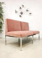 Dutch design vintage sofa easy chairs lounge stoelen 'Pink velvet loveseat'