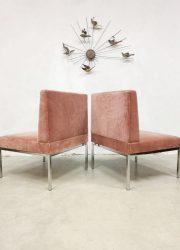 midcentury design pink velvet loveseat