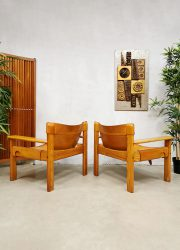 vintage Karin Mobring Natura arm chairs lounge fauteuils Sweden 1977