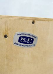 vintage Kurt Ostervig KP Mobler sideboard cabinet light oak