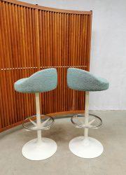 seventies barstools barkrukken ice blue casino stools barkrukken