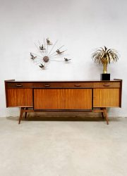 Vintage teakwood Dutch design sideboard dressoir wandkast