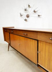 jaren 50 60 vintage dressoir wandkast cabinet retro teak wood