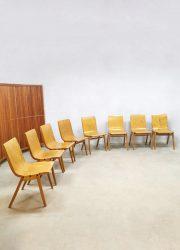 vintage stacking chairs Ronald Rainer Stadhalle Wenen stapelbare stoelen