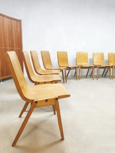 Vintage plywood stacking chairs eetkamerstoelen Ronald Rainer