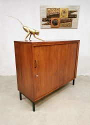 Tambour filing cabinet vintage midcentury kast 3