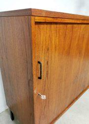 vintage tambour filing cabinet midcentury kast