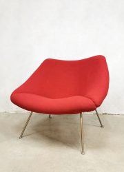 Vintage Oyster easy chair lounge fauteuil Artifort Pierre Paulin F157 red ladies model 4