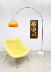 Midcentury design arc floor lamp booglamp Harvey Guzzini