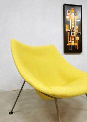 Dutch design 'Oyster' easy chair lounge fauteuil Artifort Pierre Paulin F157 yellow retro