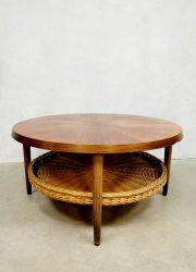 Rattan sixties coffee table salontafel jaren 60 midcentury