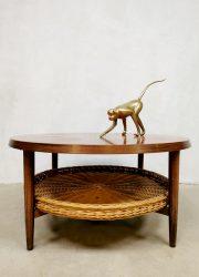 Midcentury Danish design round coffee table Deense salontafel