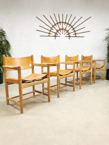 Model 3238 vintage Børge Mogensen dining Hunting chairs fifties Fredericia Stølefabrik eetkamerstoelen