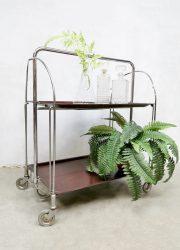 Gerlinol Design Dinett Serving Trolley serveerwagen 1960 Bremshey & Co
