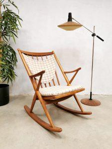 Vintage Danish design rocking chair Bramin schommelstoel Frank Reenskaug