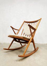 midcentury vintage design Danish design rocking chair Bramin schommelstoel Frank Reenskaug
