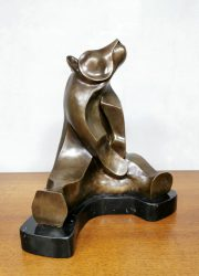 Brass beer sculpture bronze beer beeld Van der Straete