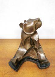 brass bronze beer sculpture bronzen beer beeld 1920 1930 style Vanderstraeten 5