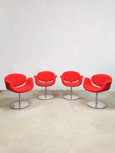 Vintage 'Little tulip' office dining chairs vergaderstoelen eetkamerstoelen Pierre Paulin Artifort
