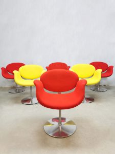 Vintage 'Little tulip' office chairs eetkamerstoelen Pierre Paulin Artifort