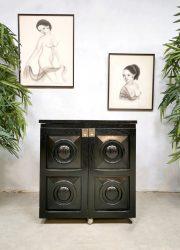 ebonized oak wood cabinet drankenkast De Coene stijl