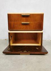 Midcentury Dutch design floating nightstands bedside table nachttkastje Patijn