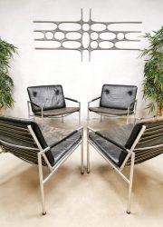 midcentury Dutch design Martin Visser armchairs t spectrum lounge fauteuils