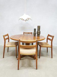 Midcentury Danish design dining table eetkamertafel Moller Gudme Mobelfabrik