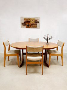 Vintage design dining set table chairs eetkamer set G-plan Victor Wilkens
