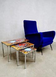vintage mimiset nesting tables sixties design