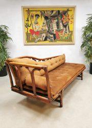 Midcentury bamboo sofa chaise longue daybed bamboe lounge bank rattan rotan