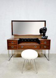 Midcentury design dressing table kaptafel '70's rosewood glamour'