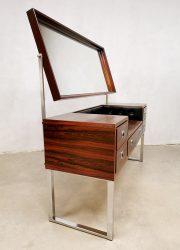 vintage chrome rosewood dressing table palissander kaptafel 1970 2