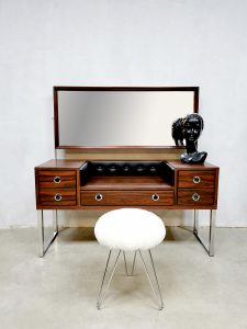 Midcentury design dressing table kaptafel '70's rosewood glamour'