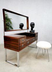 vintage design midcentury rosewood dressing table palissander kaptafel